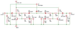 ファミコンステレオ化回路