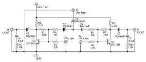 ファミコンステレオ化回路案
